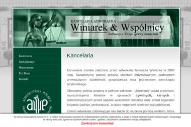 Kancelaria Adwokacka Winiarek & Wspólnicy - Prawo Karne Garwolin