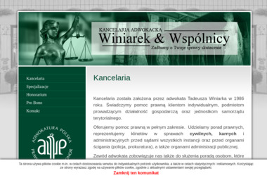 Kancelaria Adwokacka Winiarek & Wspólnicy - Adwokat Garwolin