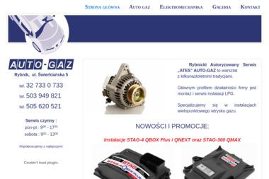 """Rybnicki Autoryzowany Serwis """"ATES"""" AUTO-GAZ - Auto gaz Rybnik"""