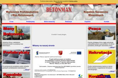 BETONMAX - Prefabrykaty Betonowe Mława