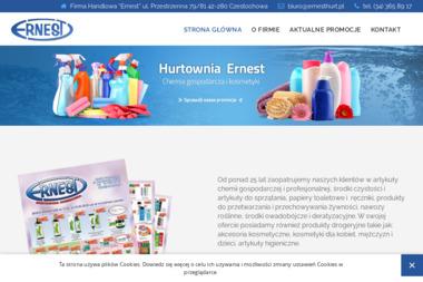 """Firma handlowa """"Ernest"""" Hurtownia - Środki czystości Częstochowa"""