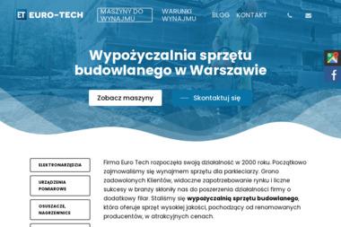 EURO-TECH - Wynajem sprzętu Warszawa
