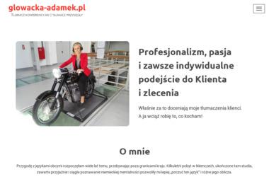 Głowacka-Adamek - Tłumacz przysięgły niemieckiego - Tłumacze Oświęcim