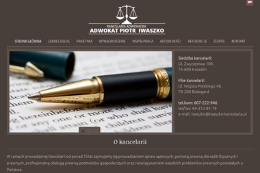 Kancelaria Adwokacka - Adwokat Piotr Iwaszko - Adwokat Białogard