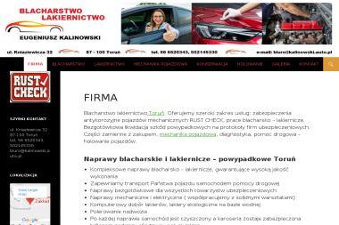 Kalinowski Eugeniusz - zakład blacharstwa, lakiernictwa i mechaniki pojazdowej - Blacharstwo, lakiernictwo samochodowe Toruń