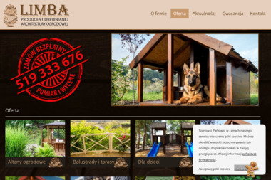 Limba - Producent drewnianej architektury ogrodowej - Ogrodzenia drewniane Bydgoszcz