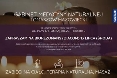 Gabinet Medycyny Naturalnej Terapii Manualnej i Odnowy Biologicznej - Medycyna Niekonwencjonalna Tomaszów Mazowiecki