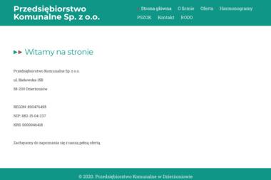 PRZEDSIĘBIORSTWO KOMUNALNE W DZIERŻONIOWIE SP. Z O.O. - Wywóz Gruzu Dzierżoniów