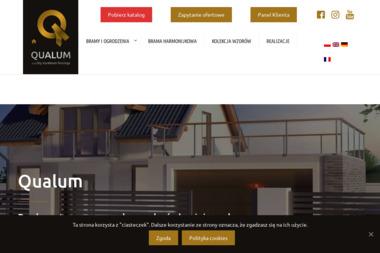 QUALUM - ogrodzenia aluminiowe - Bramy wjazdowe Kalisz