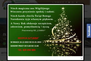 """Sanatorium Uzdrowiskowe """"Limba"""" - Sanatoria, uzdrowiska Piwniczna-Zdrój"""