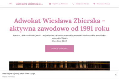 Adwokat Wiesława Zbierska - Adwokat Aleksandrów Kujawski