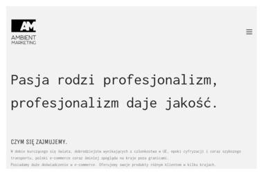 Ambient Marketing Krzysztof Tomys - Projektowanie Stron Internetowych Wolsztyn