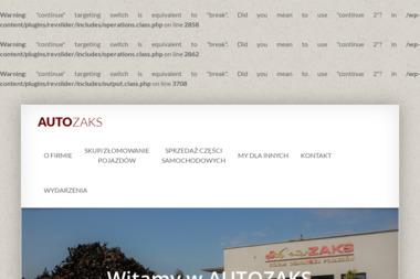 """AUTO-ZŁOM """"ZAKS"""" - Auto złom LUBICZ"""