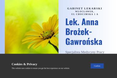 Lekarz medycyny pracy i chorób wewnętrznych Anna Brożek-Gawrońska - Medycyna pracy Włocławek