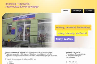 Impresja Pracownia Krawiectwa Dekoracyjnego - Szycie Firan i Zasłon Kielce