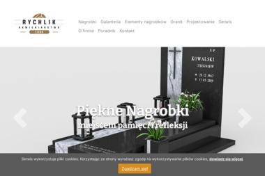 """Zakład Kamieniarski """"Rychlik"""" - Nagrobki Trzcianka"""