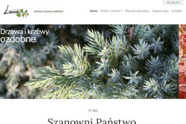 """Szkółka Drzewa i Krzewy Ozdobne """"Łapiński"""" - Sadzonki Stanisławów"""