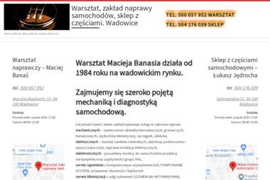 Warsztat naprawczy – Andrzej Banaś - Elektryk samochodowy Wadowice