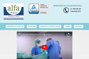Niepubliczny Zakład Specjalistycznej Opieki Zdrowotnej ALFA-PIŁA - Prywatne kliniki Piła