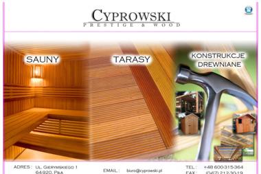 CYPROWSKI PRESTIGE & WOOD - Tarasy z Drewna Piła