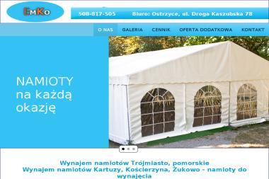 Emko - Wynajem namiotów Ostrzyce