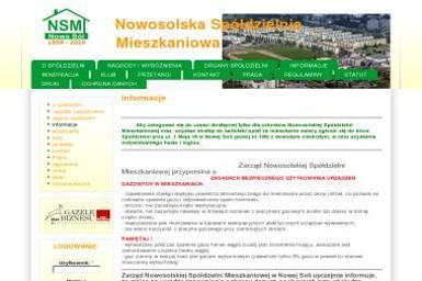 Nowosolska Spółdzielnia Mieszkaniowa - Roboty ziemne Nowa Sól