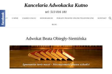 Kancelaria Adwokacka Adwokat Beata Obiegły- Siemińska - Windykacja Kutno