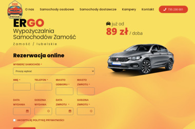 ERGO Wypożyczalnia - Wypożyczalnia samochodów Zamość