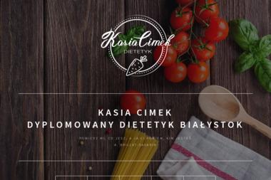 Dyplomowany Dietetyk mgr Kasia Cimek - Dietetyk Białystok