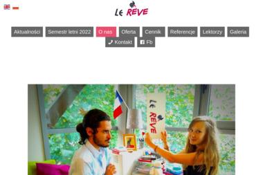 Szkoła języka francuskiego Le Rêve - Kurs francuskiego Kraków