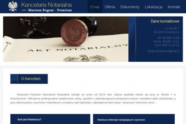 Kancelaria NotarialnaMarzena Bogusz - Notariusz - Kancelaria prawna Kościerzyna