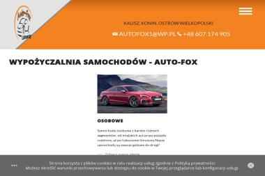 AUTO-FOX - Wypożyczalnia samochodów Kalisz