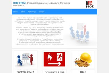 BHP PPOŻ Firma Szkoleniowo-Usługowo-Doradcza - Szkolenia BHP Kołobrzeg