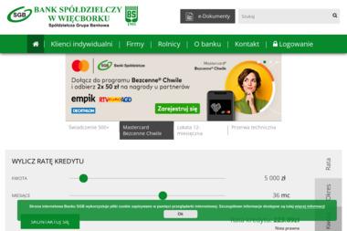 Bank Spółdzielczy w Więcborku - Pożyczki Hipoteczne Sępólno Krajeńskie