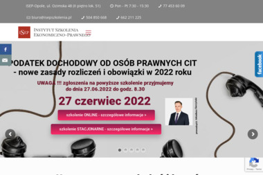 Instytut Szkolenia Ekonomiczno-Prawnego - Szkolenia Opole