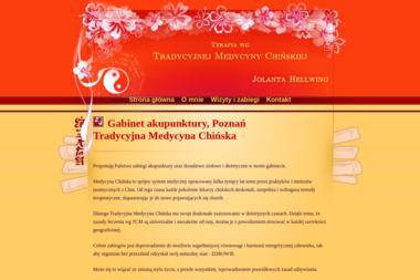 Terapia wg Tradycyjnej Medycyny Chińskiej - Jolanta Hellwing - Akupunktura Poznań