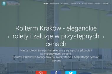 Rolterm - Żaluzje, moskitiery Kraków