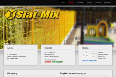SIATMIX - Ogrodzenia betonowe Baranów Sandomierski
