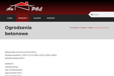 Anpol - Elementy Ogrodzeniowe Betonowe Szczecin