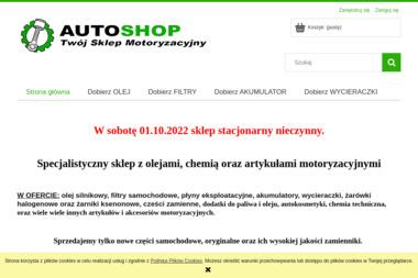 AUTOSHOP - Sklep motoryzacyjny - Akcesoria motoryzacyjne Warszawa