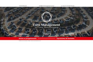Euro Management sp. z o. o. - Mycie okien Wysoka