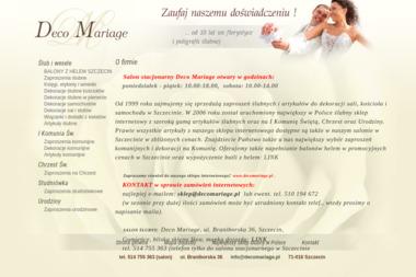 Deco Mariage - Imprezy i uroczystoÅ›ci Szczecin