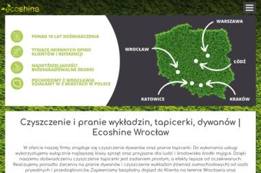 Ecoshine - Pranie Tapicerki Wrocław