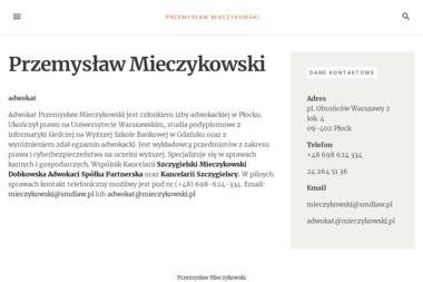 Adwokat Przemysław Mieczykowski - Kancelaria Adwokacka w Płocku - Adwokat Płock