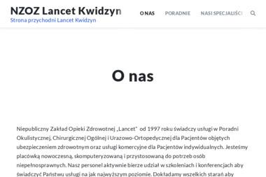NZOZ Lancet - Okulista Kwidzyn