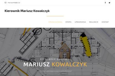 Kierownik budowy Mariusz Kowalczyk - Rzeczoznawca budowlany Strzelin