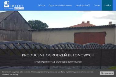 """Zakład Betoniarski """"PARKAN"""" - Ogrodzenia betonowe Potok WIelki"""