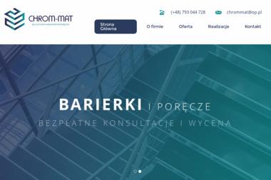 Firma Produkcyjno Usługowa CHROM-MAT - Balustrady nierdzewne Czarna Sędziszowska
