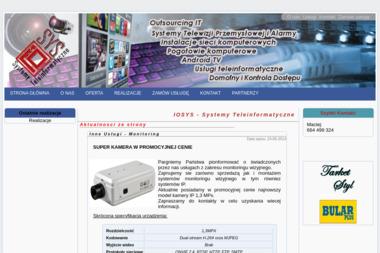 IoSyS - Systemy Teleinformatyczne - Serwis komputerowy Płock