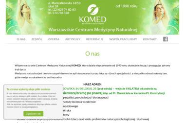 Warszawskie Centrum Medycyny Naturalnej KOMED - Medycyna naturalna Warszawa